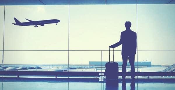 Pasajero  en el aeropuerto de Barcelona el Prat