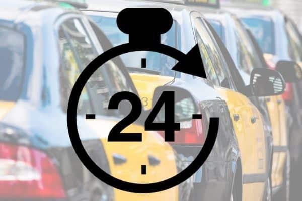 Taxi 24 horas en Barcelona